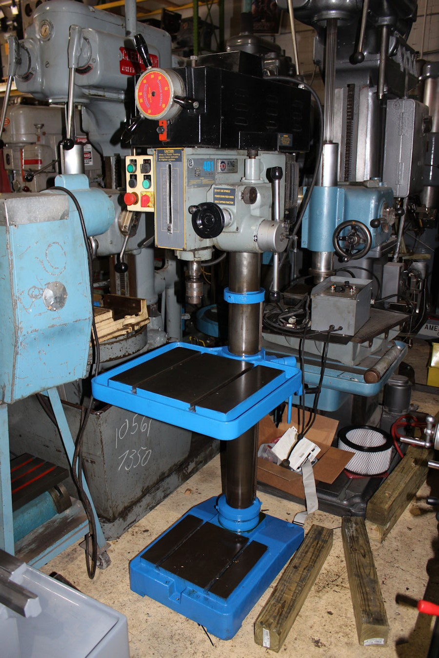 Jacobs Auto Sales >> Model KC-401V2F, S# 334075, Date Mfg. 11/03, Variable speed spindle from 150 to 2,000 rpm, 5/8 ...