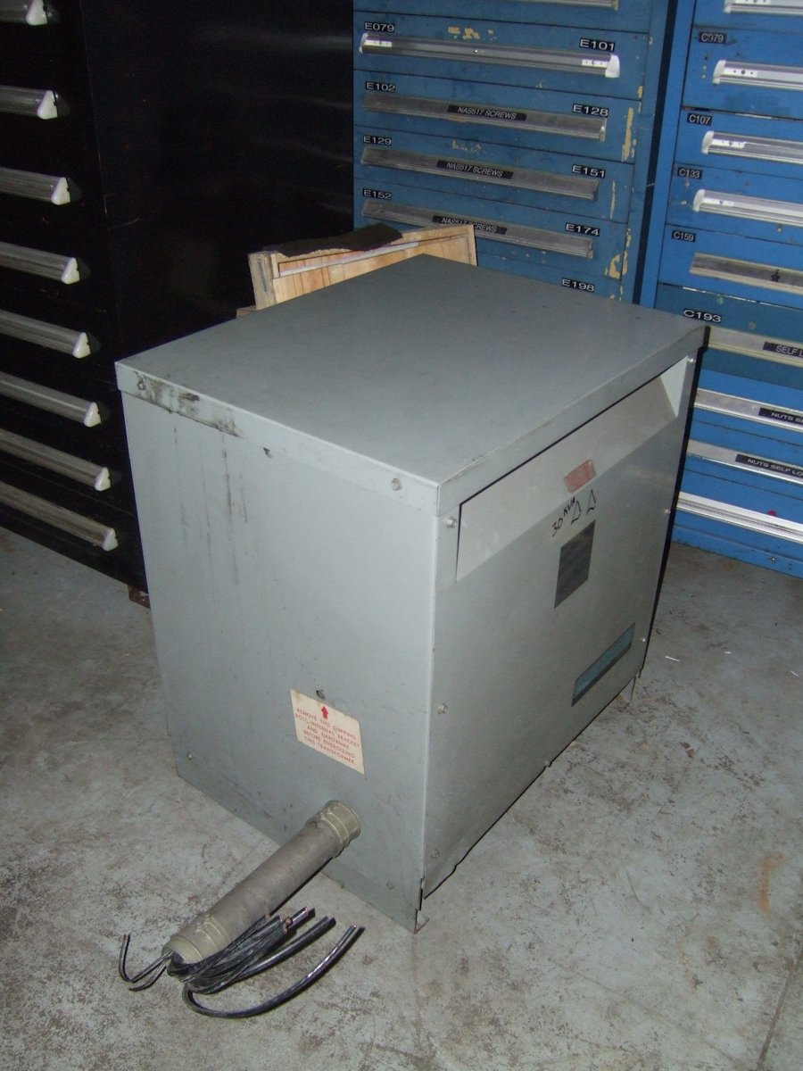Catalog No. T-1-53342-3, Primary volts 480 with taps, Secondary volts 240, 30kva 60hz 3ph, Weight 312 lbs.