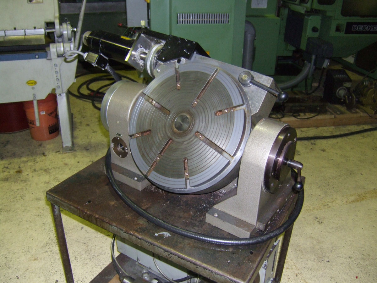 "Hofmann 15.75"" Powered Rotary Table Type HPRS/M-400, S# 89105, Manual tilt  to 90°, Powered rotation, 15.75"" T-Slotted table, Baldor motor with Anilam  ..."