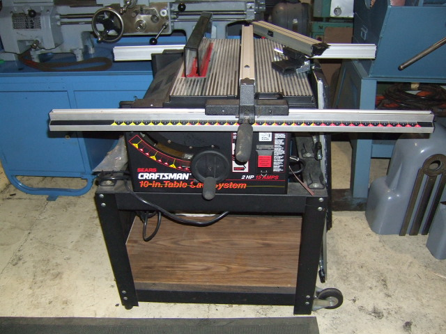 Craftsman 10 Table Saw Model 315 221850 S 705447 9439 19 5 8 X 25 Cast Aluminum Work Expands To 55 1 2 With Two Telescoping Extension