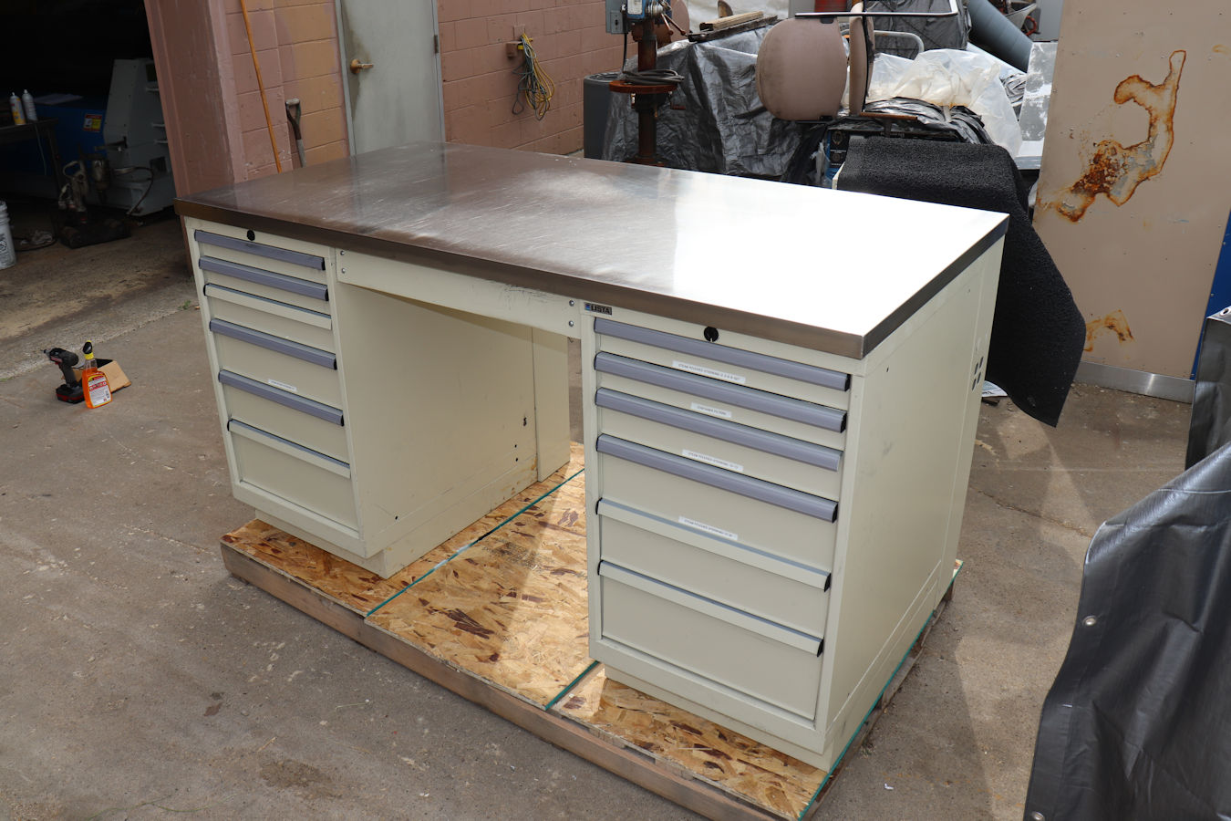 Details About Lista 12 Drawer 6 X 3 Stainless Steel Top Work Bench Station
