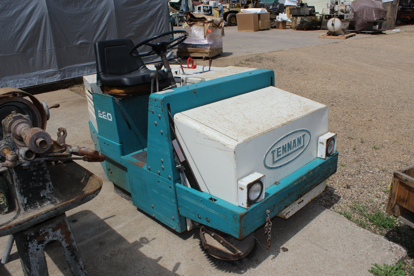 Sweepers Scrubbers Inter Plant Sales Machinery Wiring Harness Iding Machine For Sale Tennant 220 Riding Sweeper Model S 2959 Date Mfg 1998 12hp Kohler Engine K301s 47413 Gas Over Hydraulic Estimated 10 Gallon Tank Under